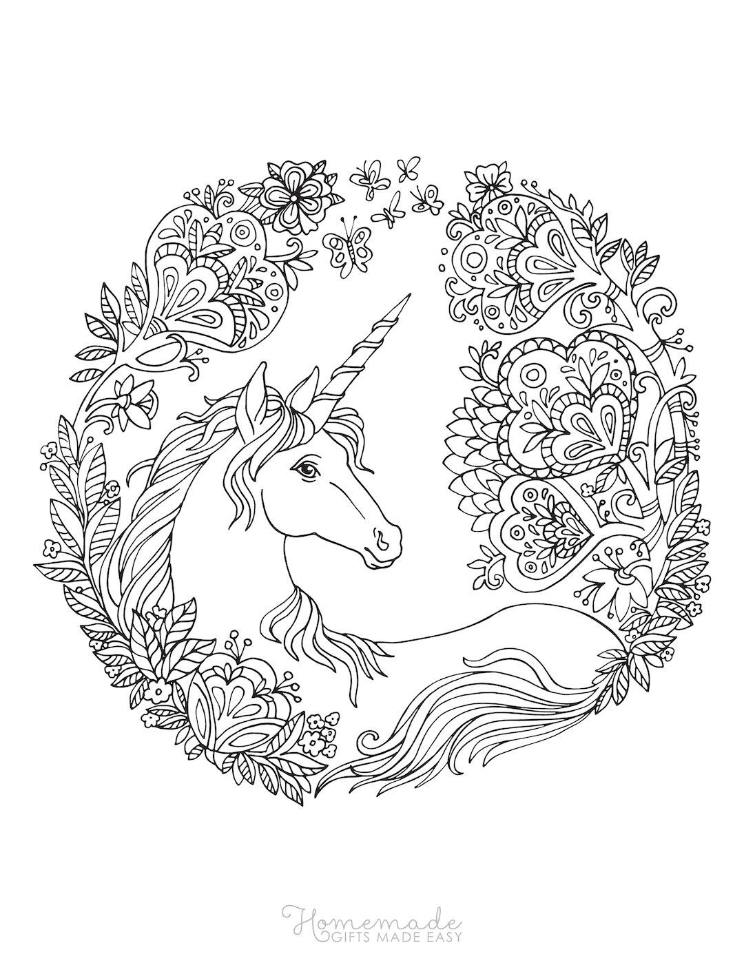75 Magical Unicorn Coloring Pages For Kids Adults Free Printables In 2021 Unicorn Coloring Pages Love Coloring Pages Coloring Books