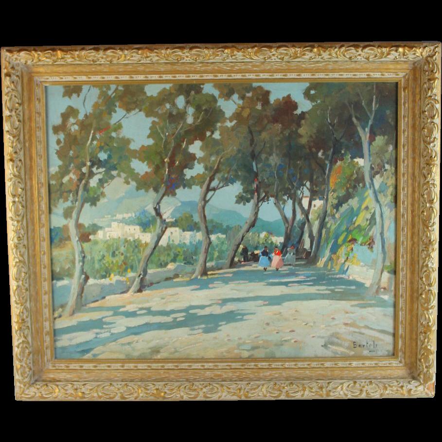 Impressionistic  Landscape  Painting by listed artist Jose Bartoli (1910-1995)