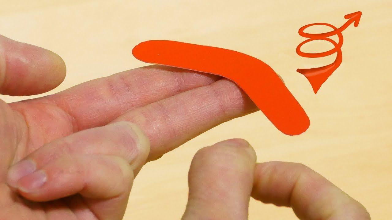DIY Mini Boomerang Toy! Toys from trash, Diy for kids, Diy