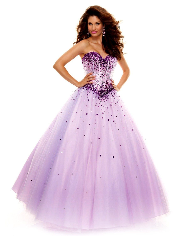 KissBridal Sweetheart Floor Length Tulle Ball Gown Prom Dress ...
