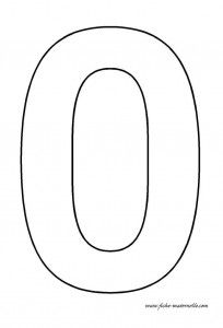 Large numbers for use in flashcards, coloring pages