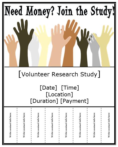 research study flyer template business pinterest flyer