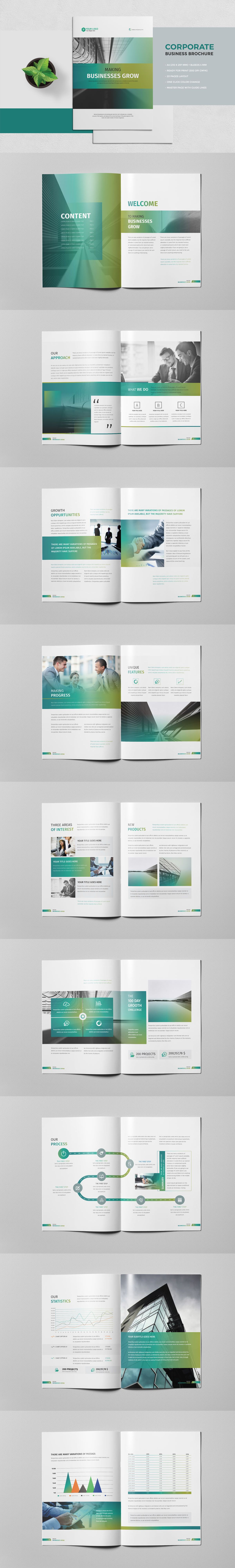 Corporate Business Brochure 20 Pages Template InDesign INDD ...