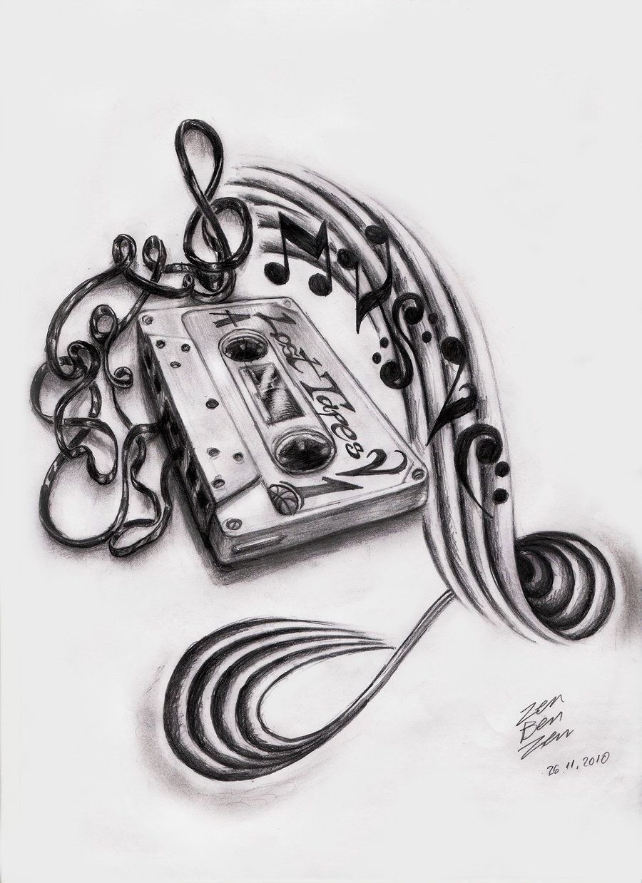 Photo of Music Cassette Design by ZenBenZen on DeviantArt