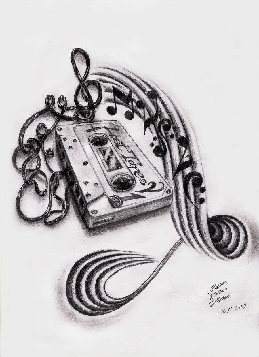 Music tattoo designs tattoo ideas pictures tattoo ideas pictures - Music Cassette Design By Zenbenzen Designs Interfaces Tattoo Design