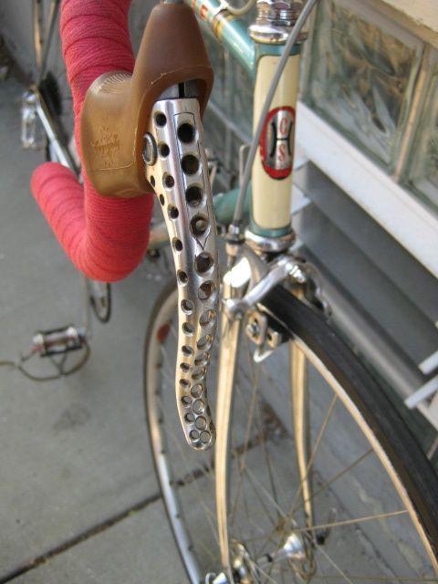 Vintage Racing Brake Levers in Aluminium Drilled for Bike