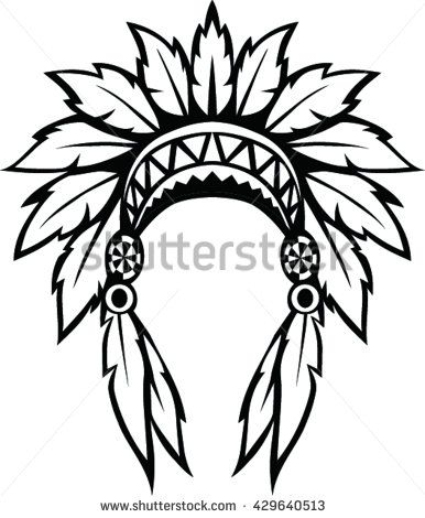 Native American Indian Headdress Vector Illustration Indian