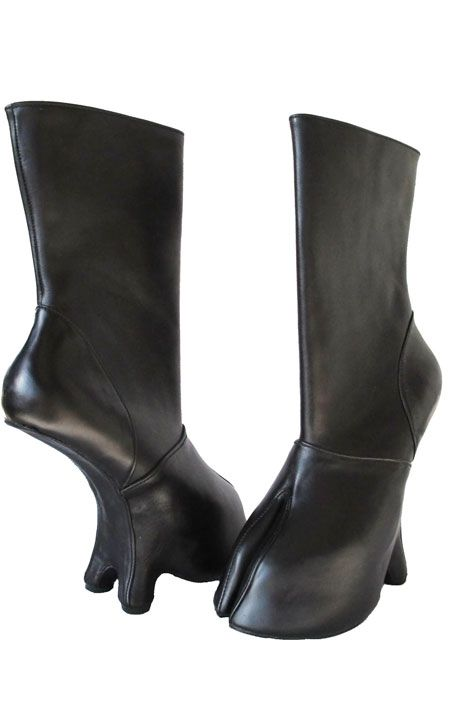 4008574811 Cloven hoof boots. Wow! I want to wear the bear boots (which I pinned  earlier), and I want my love to wear these. What a pair we'd be!