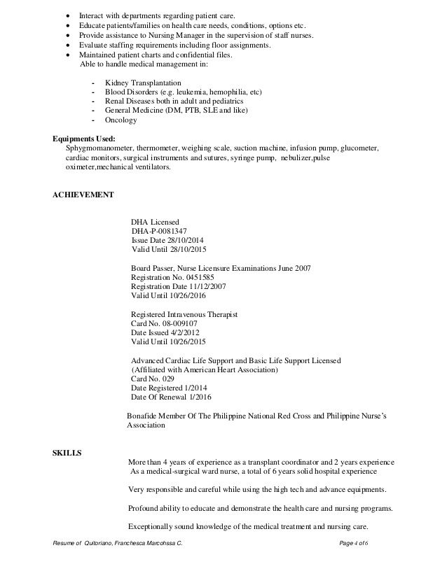 Dha Rn Cv Nursing Resume Sample Resume Resume