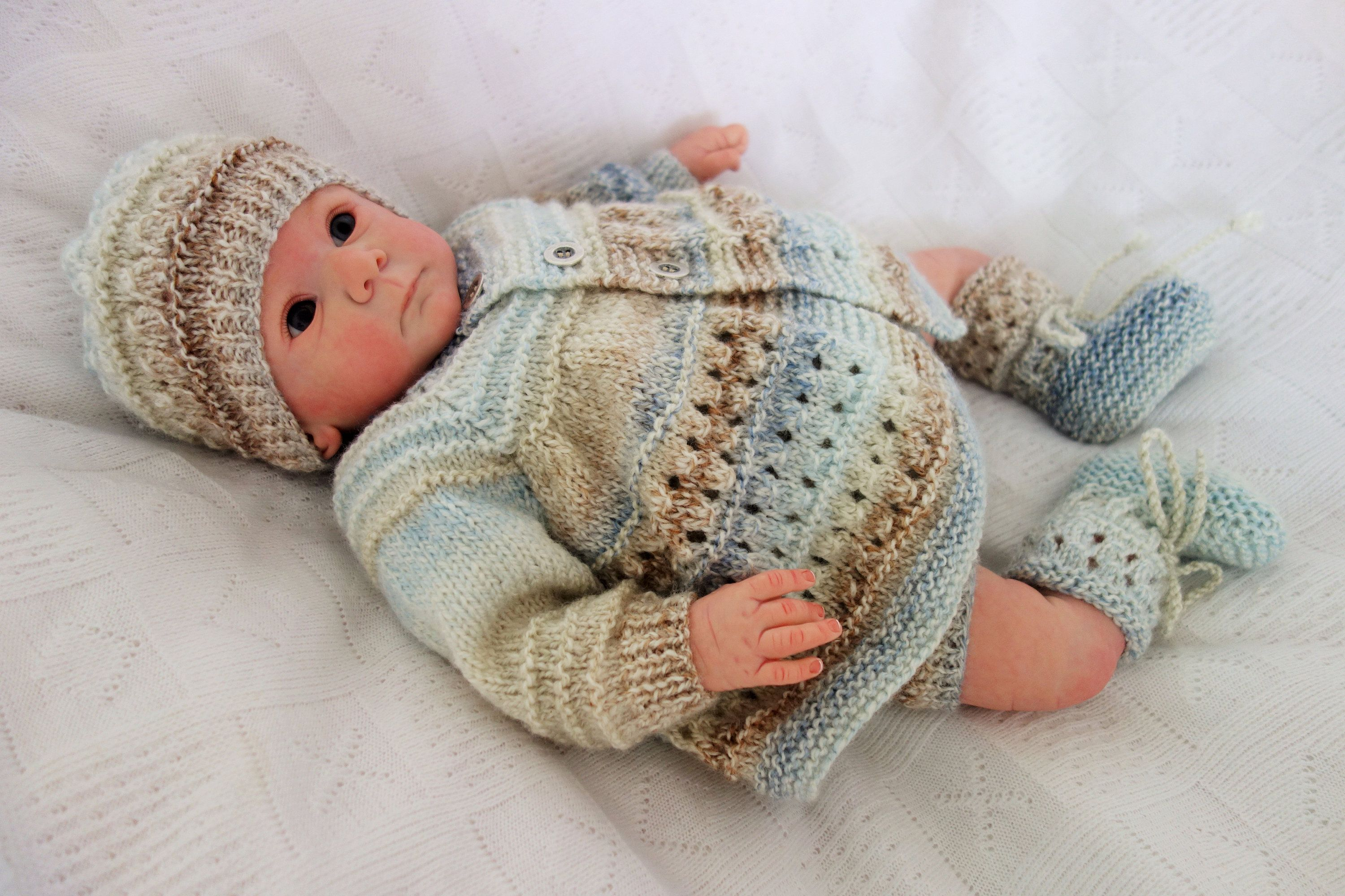 Unisex baby. Baby girl Rainbow baby jacket and hat set Newborn baby jacket and hat set Baby cardigan and hat set knitted baby clothing