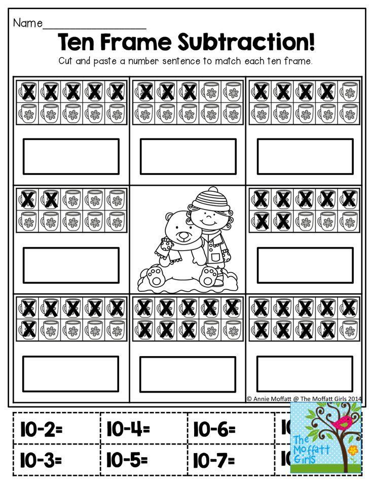 Ten Frame Subtraction!!:   Edukacja   Pinterest   Ten frames ...