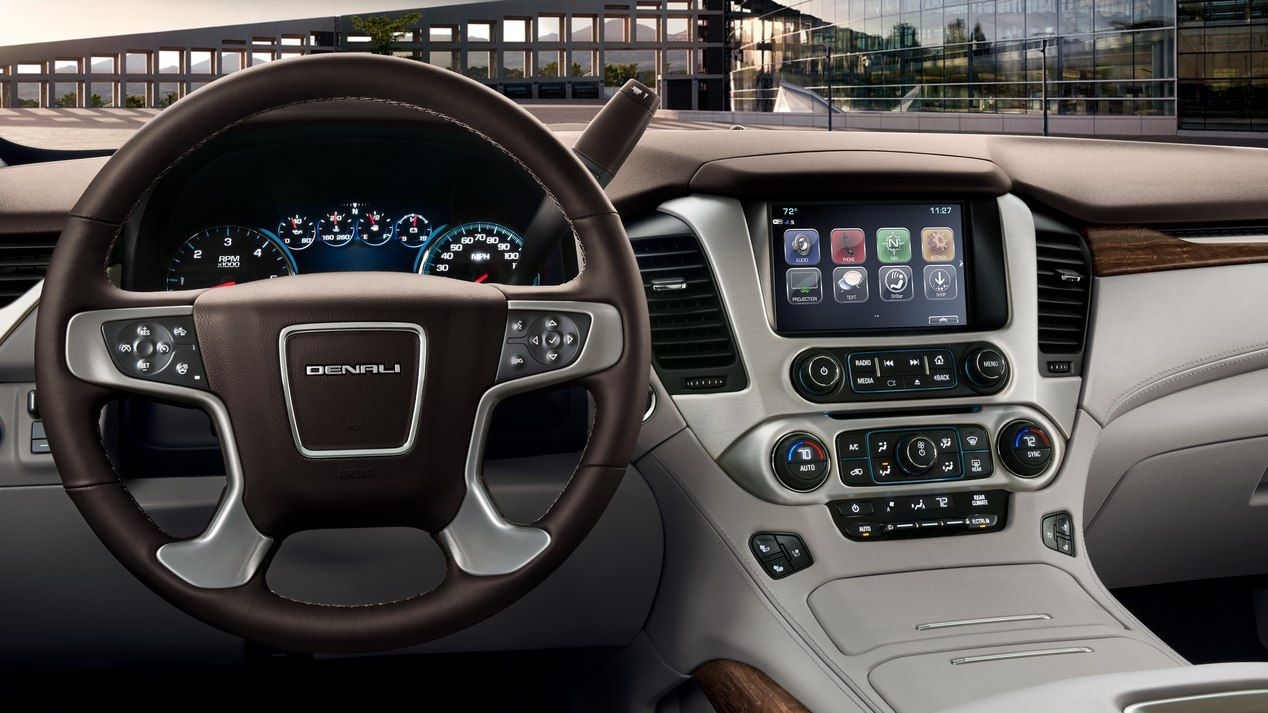 Interior image of the 2018 GMC Yukon Denali full-size ...