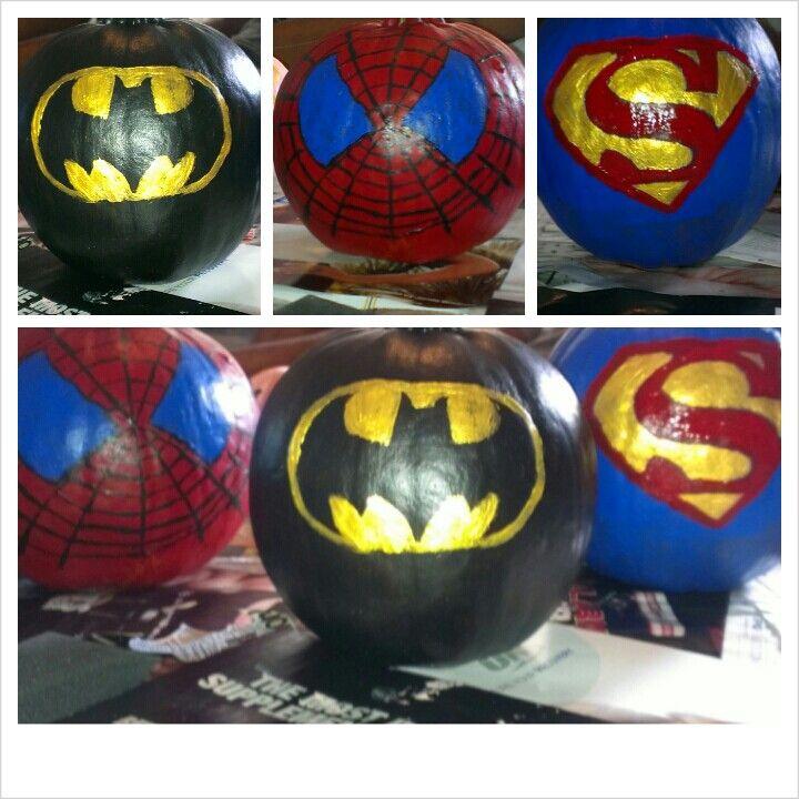 Superhero Pumpkins Halloween Deco Halloween Crafts Halloween