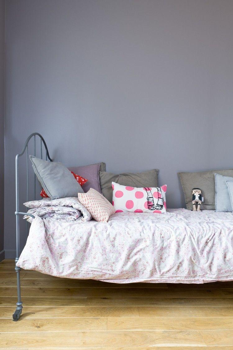 Charmant Kinderzimmer Neu Gestalten Wandfarbe Grau Lila #innendesign #interior  #colors #design