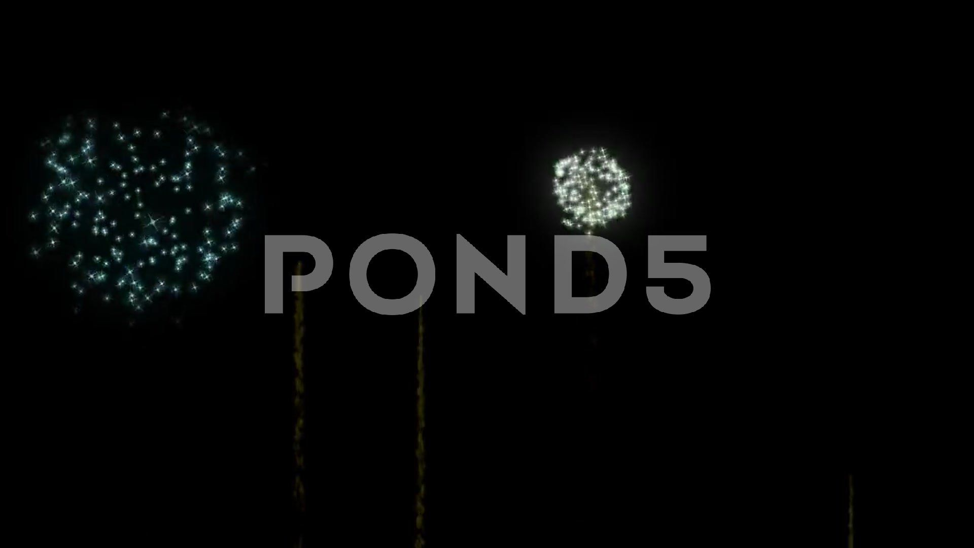 Animated fireworks explode with alpha channel stock