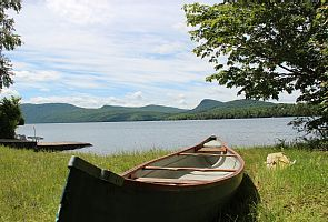 Our canoe you can use as well as our dock and mooring at the beach.