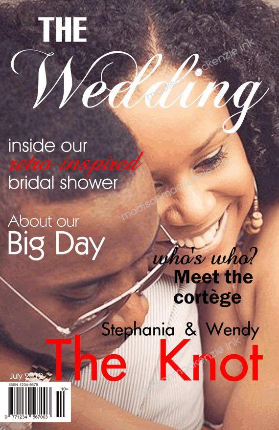 Magazine Wedding Program Unique Idea Great By Madisonmackenzieink