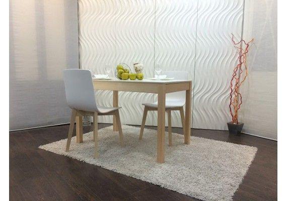 mesa mirka en madera y laca extensible de estilo nordico cocina y comedor