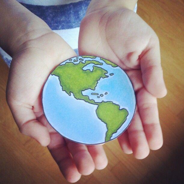 earth digital stamp