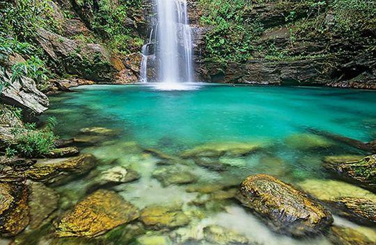 Santa Barbara vízesés - Chapada dos Veadeiros Nemzeti Park, Brazilia