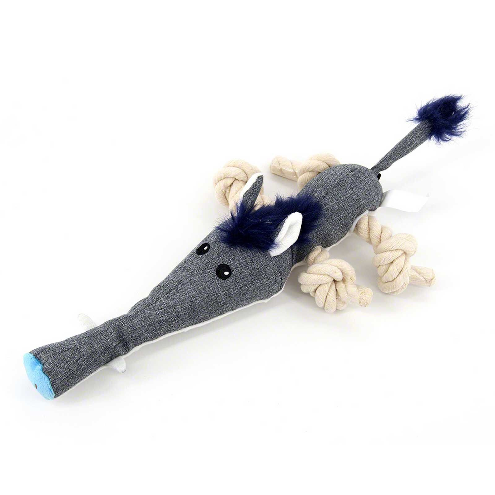 Interactive Dog Toys Cute Grey Wild Boar Best Tough Stuffed Interactive Dog Plush Toys For Aggressive Chewers With Squeakers