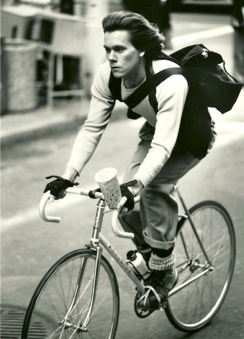 Kevin Bacon Rides A Bike Famous Bike Riders Pinterest Bacon