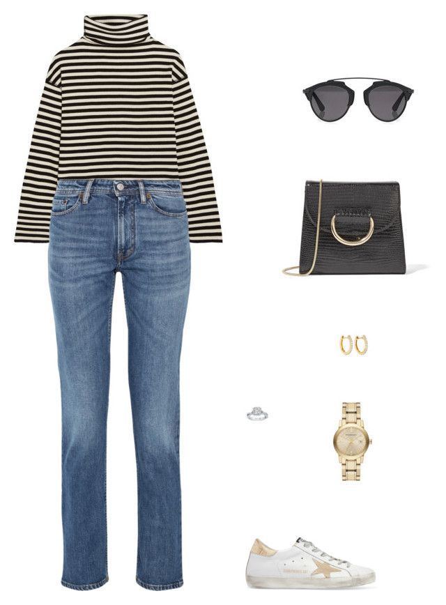 """""""Street Style"""" by julieselmer on Polyvore featuring Steve J & Yoni P, Acne Studios, Little Liffner, Golden Goose, Christian Dior, Burberry and Anita Ko"""