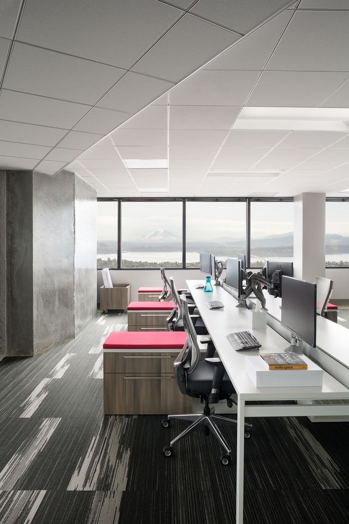 Unispace offices seattle suspended ceiling ideas for offices small office design office - Interior design office space ...