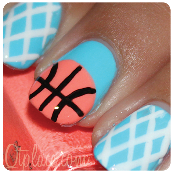 Basketball Nails Going To Do Soon Pinterest - Basketball Nail Art Best Nail Designs 2018