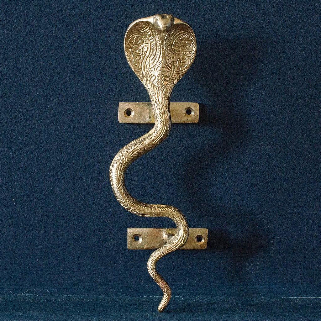 Brass Cobra Snake Door Handle Door Handles Snake Cobra Snake