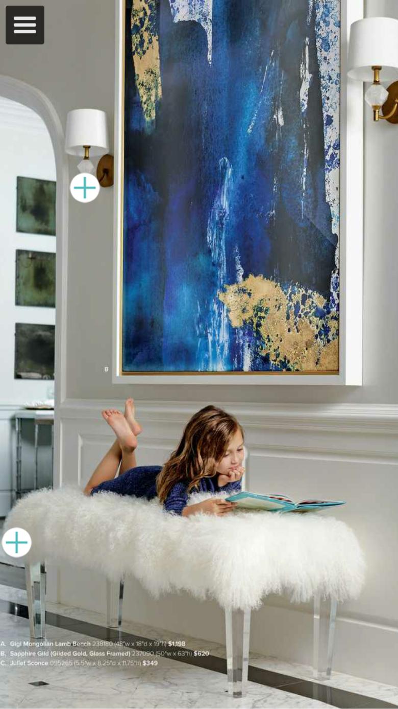Oversized Framed Abstract Art