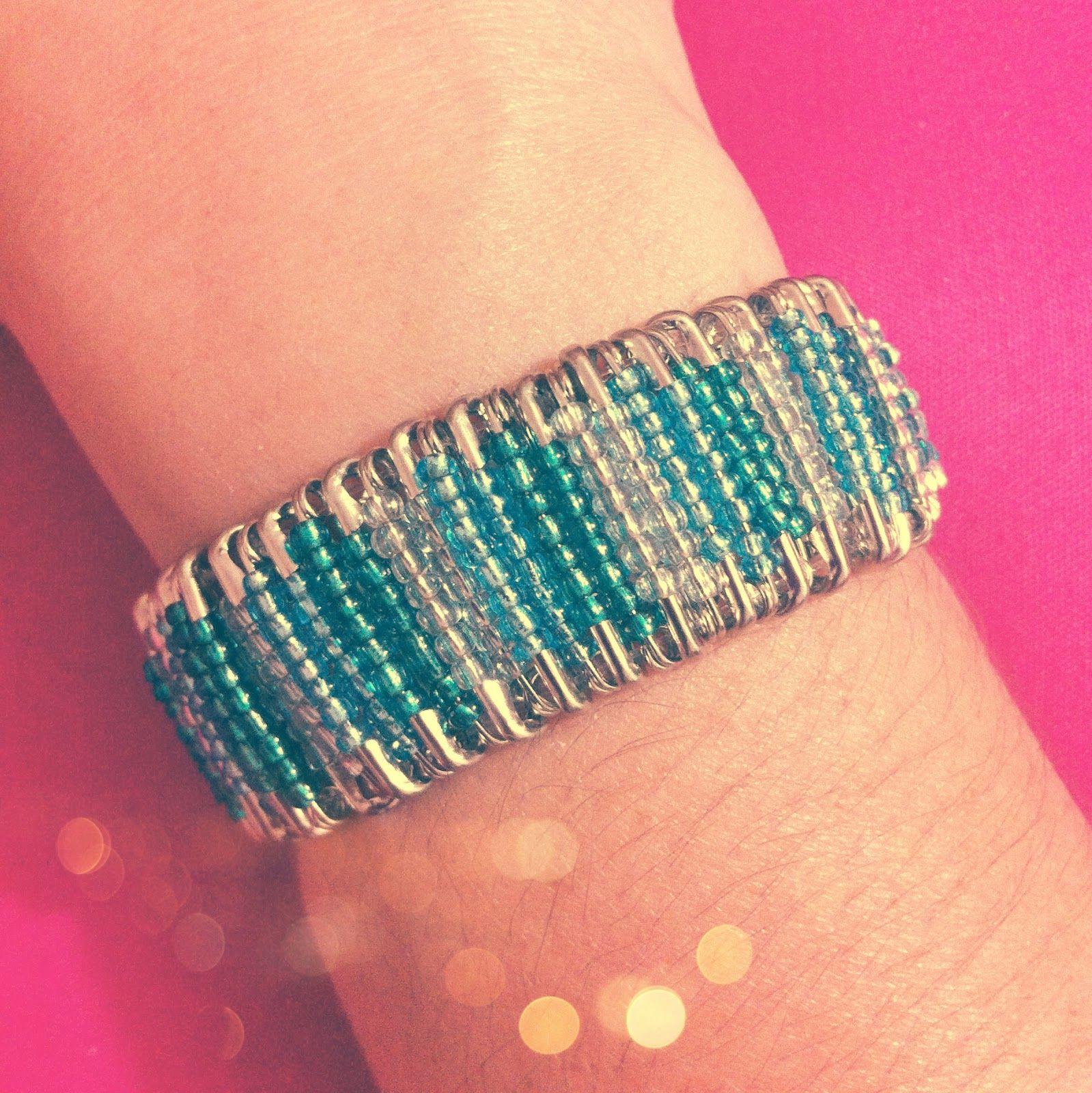 Diy safety pin bracelet safety pin bracelet plastic