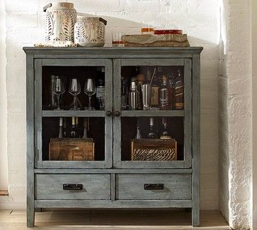 AMELIA GLASS CABINET   Traditional   Bookcases Cabinets And Computer  Armoires   Pottery Barn