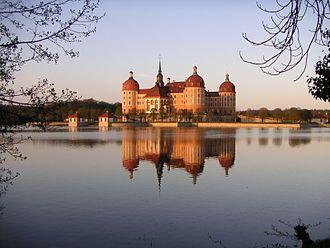 Moritzburg Castle German Schloss Moritzburg Is A Baroque Palace In Moritzburg In The German State Of Saxony About Germany Castles European Castles Castle