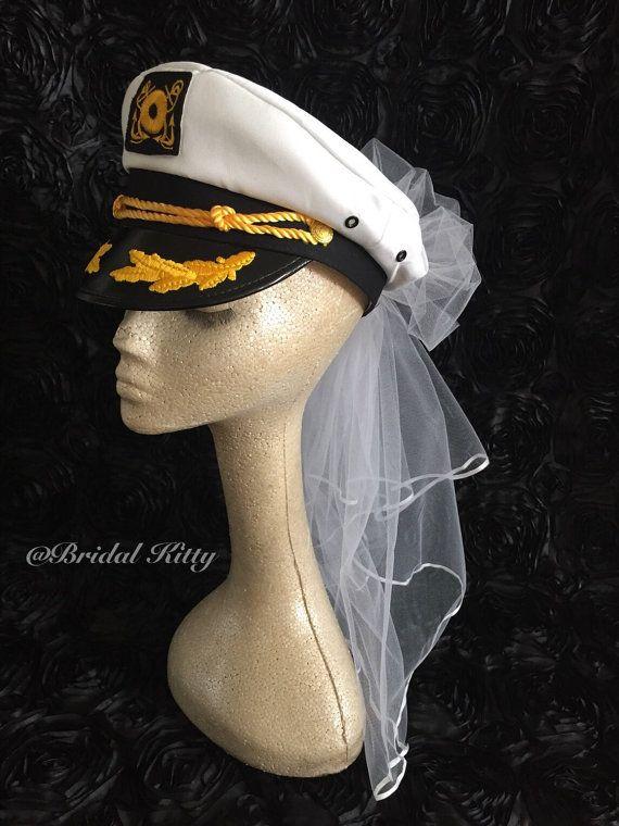 f6254fffb36 Nautical Bachelorette Party Cruise Bridal Booty Veil Bride Anchor ...