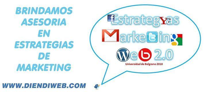 Brindamos asesoría en estrategias de #marketing. www.diendiweb.com