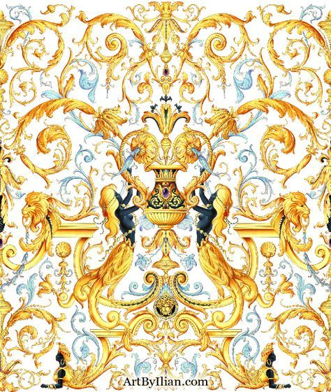 Pin By Amisa Design On 16 Versace Pattern Versace Wallpaper Art