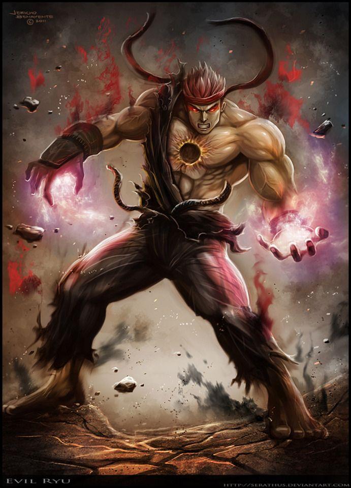 evil ryu vs devil jin battles comic vine ryu pinterest