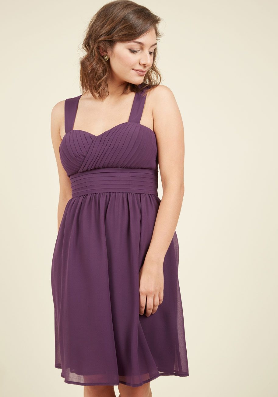 5e6301651b40 Blissful Vision Dress in Amethyst. Delicately sauntering down the grand  staircase in this deep purple dress from our ModCloth namesake label