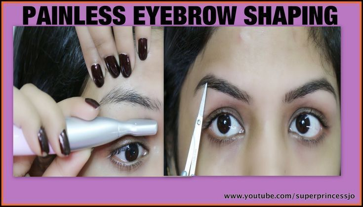 Painless Facial Hair Removal How To DIY Eyebrow Shaping ...