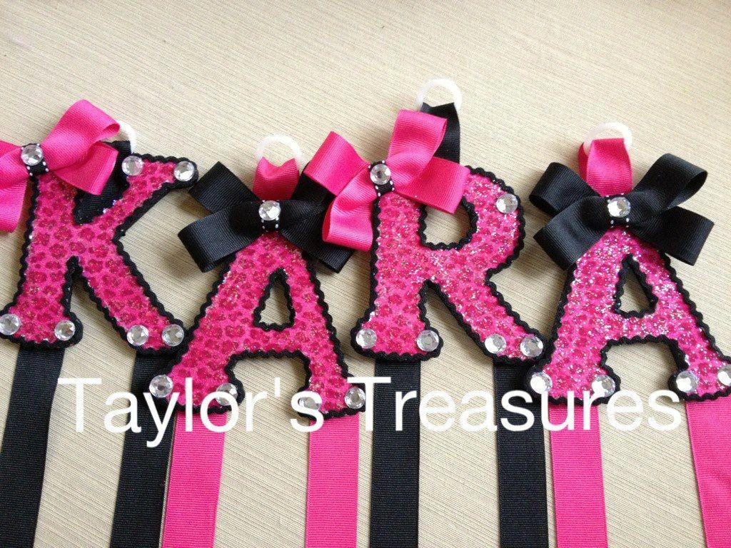 Taylors Treasures Hair Bow Holder Patterned Letter