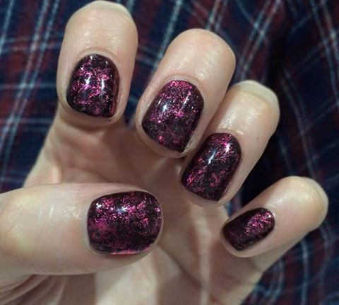 CND Shellac Fedora & Poison Plum with #Lecenté Pink ...