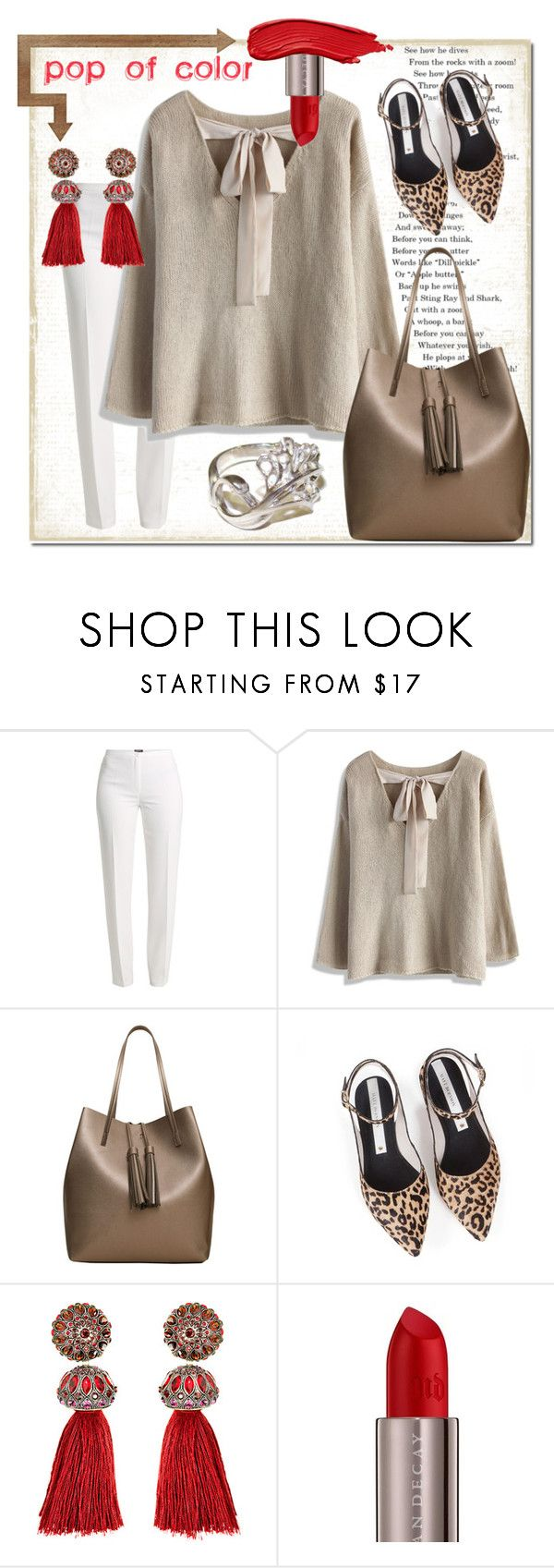 """Untitled #3475"" by kellie-debrandt-mescher ❤ liked on Polyvore featuring Basler, Chicwish, MANGO, Zolà, Lanvin and Urban Decay"