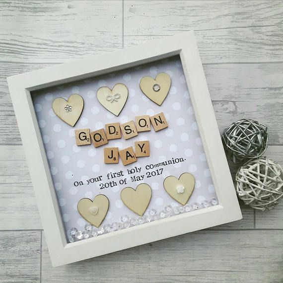 Holy communion frame, Gift Holy Communion, Christening Gift, Gift ...