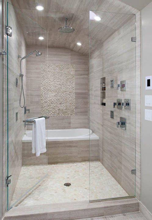 Bañera y ducha juntas CASA Pinterest Bañera, Baños y Baño - Baos Modernos Con Ducha Y Baera