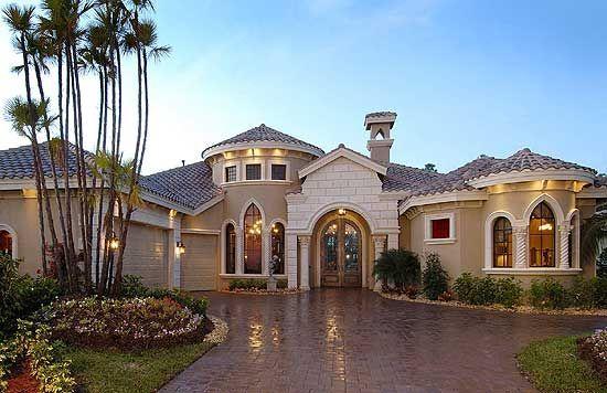 Plan 24004bg Designed For Luxury Luxury House Plans Mediterranean Homes Mediterranean House Plan