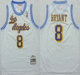 540a85cb9 ... Los Angeles Lakers Jersey 8 Kobe Bryant 1996-97 White Hardwood Classics  Soul Swingman Throwback .