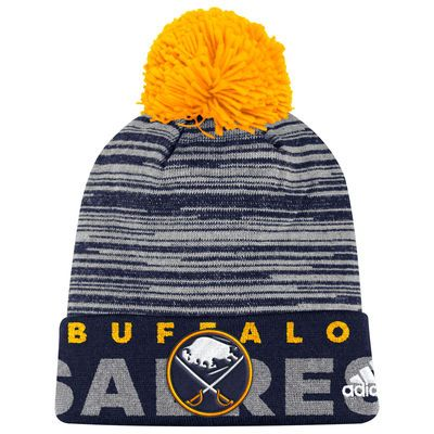 pretty nice 452ca e7d3f ... new zealand youth buffalo sabres adidas navy team logo cuffed knit hat  with pom e1996 93580