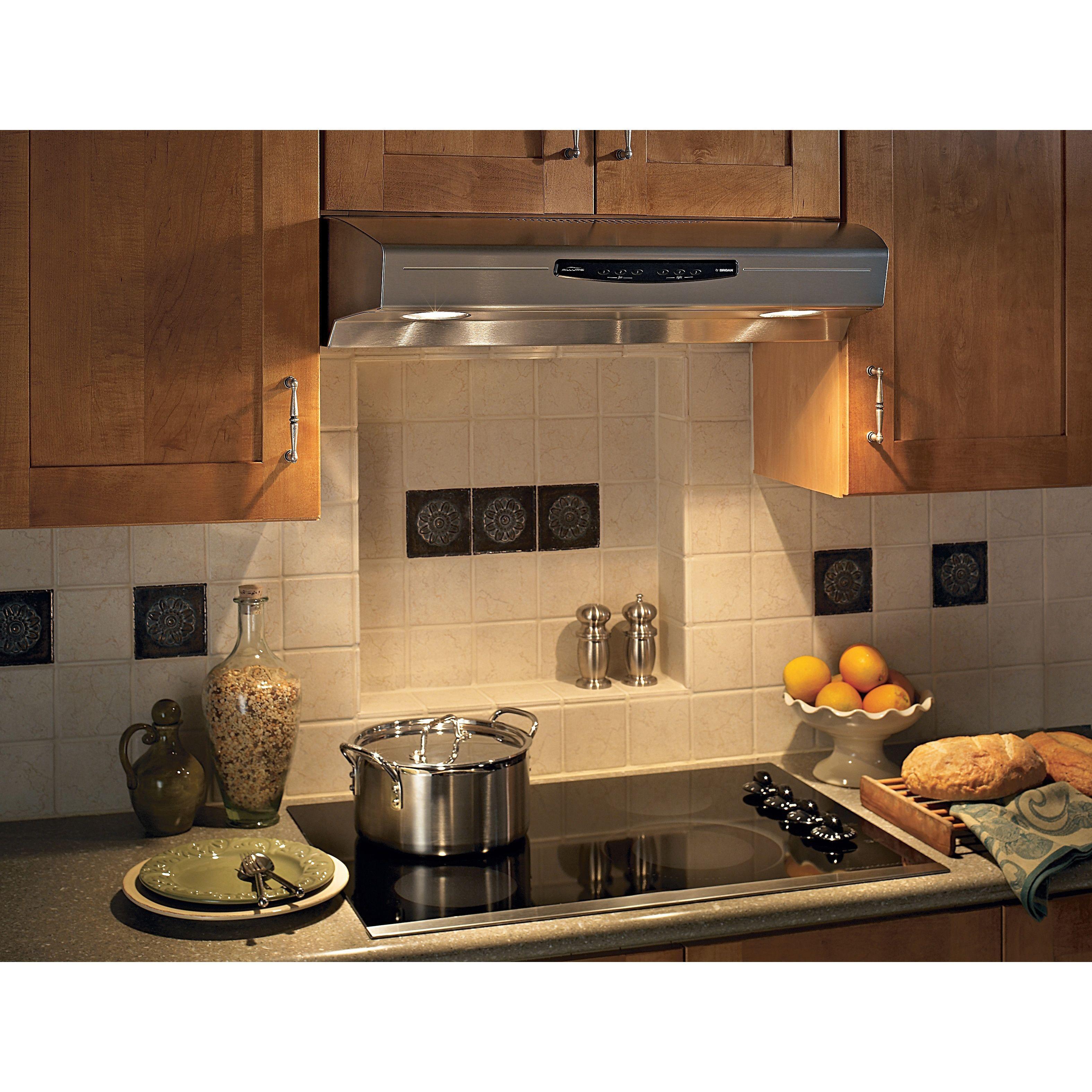 Broan QS230 Allure Series 30 Inch Stainless Steel (Silver) Under Cabinet  300 CFM