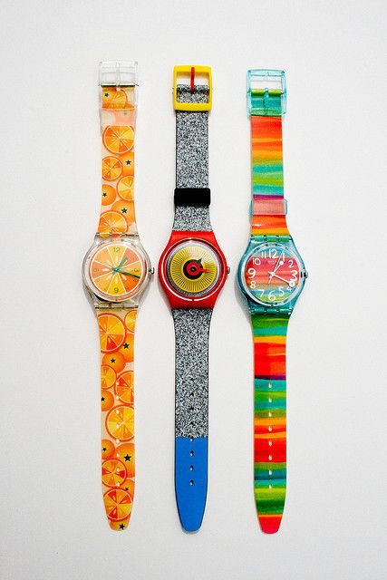 Swatch Watch Remember The Protectors That Slid On Each Band And Covered The Top With A Plastic Strip Swatch Watch Swatch Vintage Swatch Watch